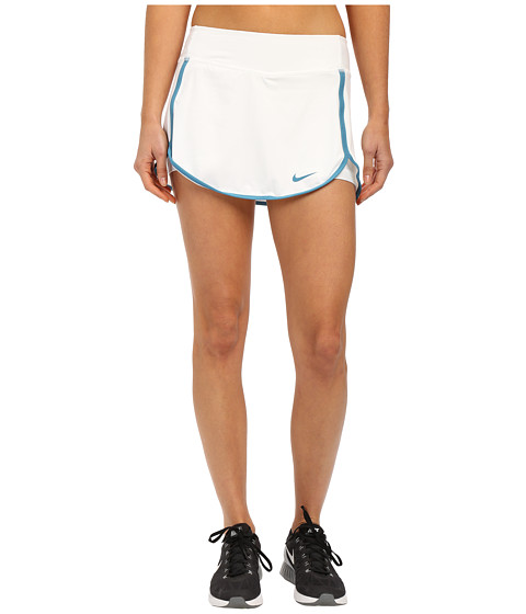 Nike - Straight Court Skirt (White/Stratus Blue) Women