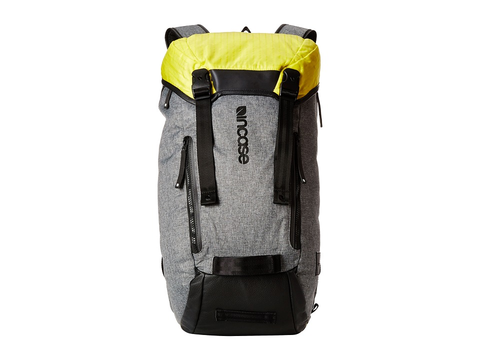 Incase - Halo Collection Courier Backpack (Heather Gray/Black/Yellow) Backpack Bags