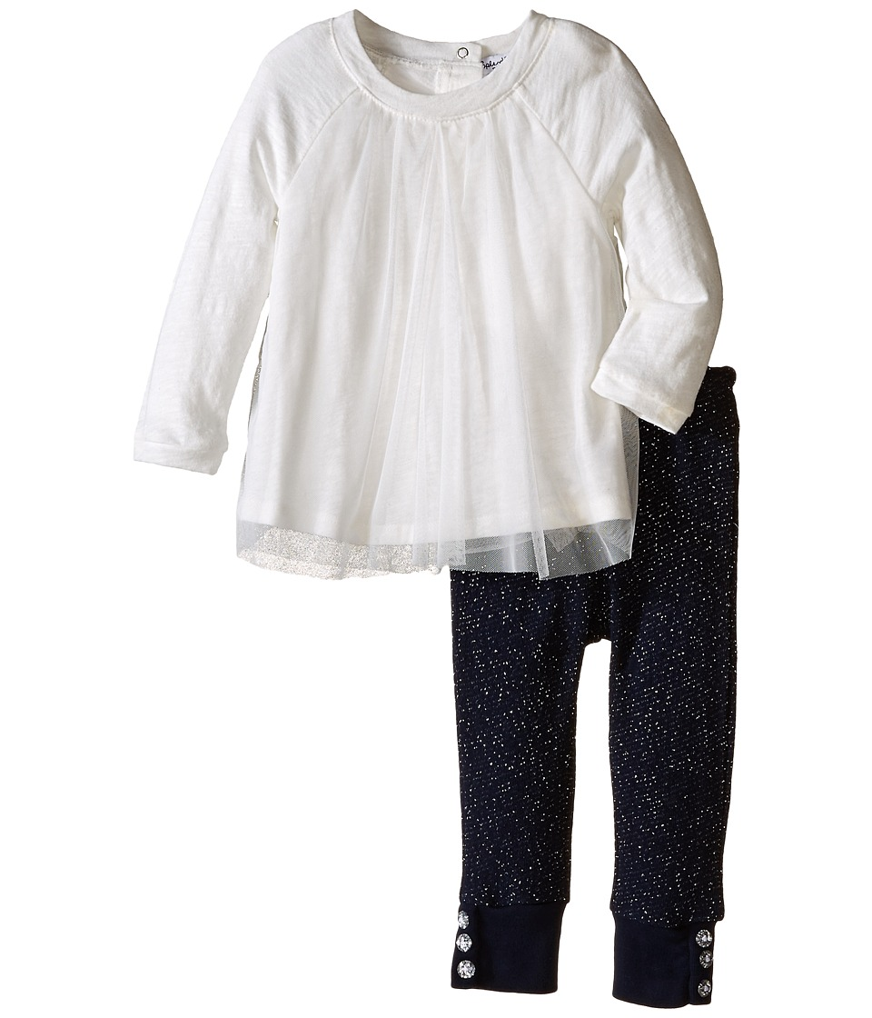 Splendid Littles - Long Sleeve Top w/ Lurex Leggings (Infant) (Off White) Girl's Active Sets