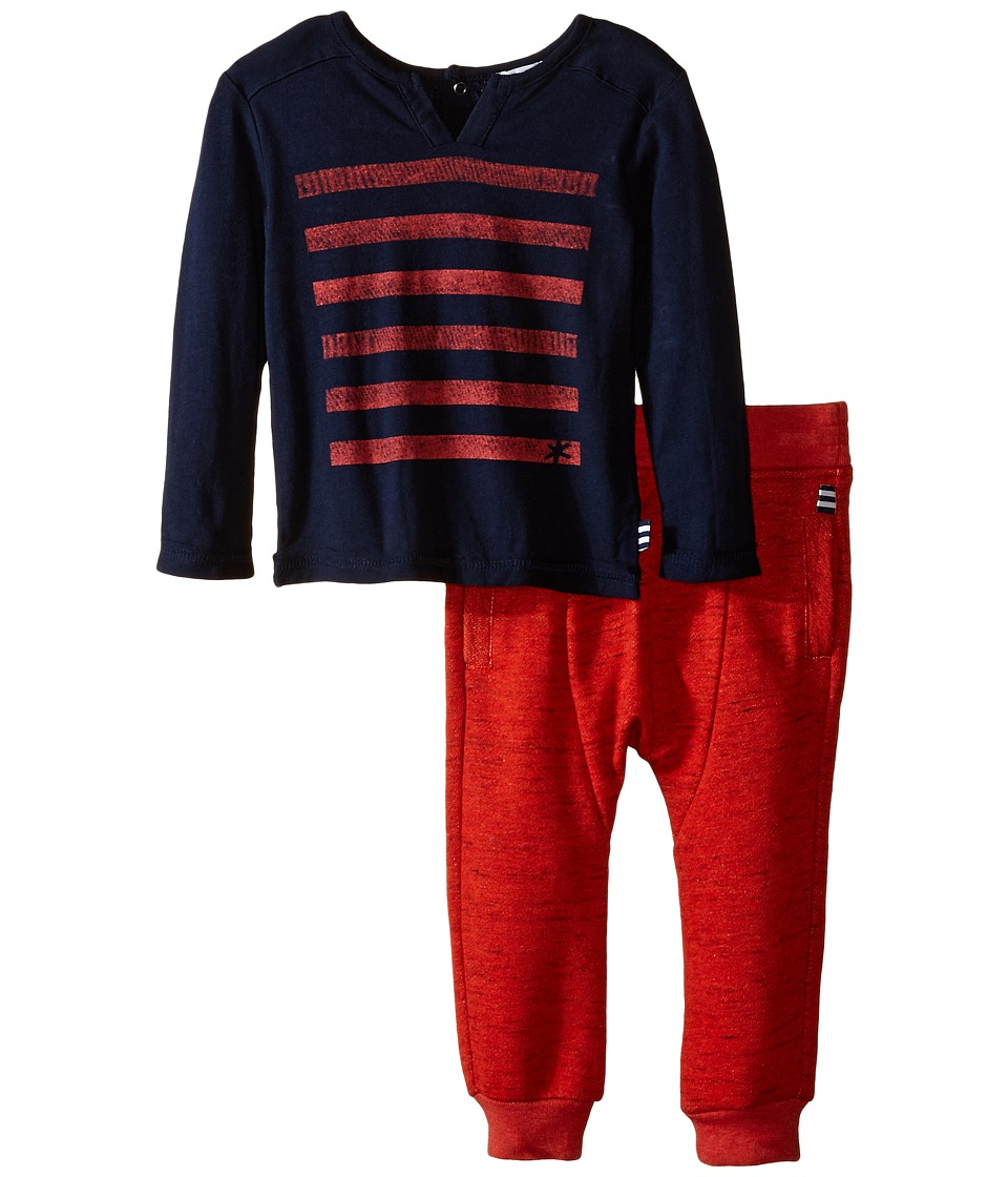 Splendid Littles - Long Sleeve Top Knit Jogger (Infant) (Navy) Boy