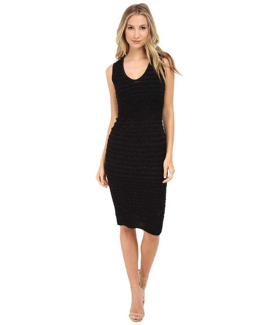 DSQUARED2 - Striped Lurex Knit Dress (Black) Women's Dress