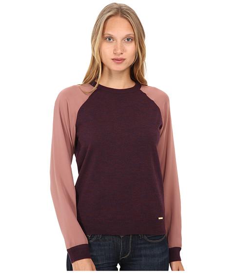 DSQUARED2 - Color Block Pullover (Bordeaux Melange) Women
