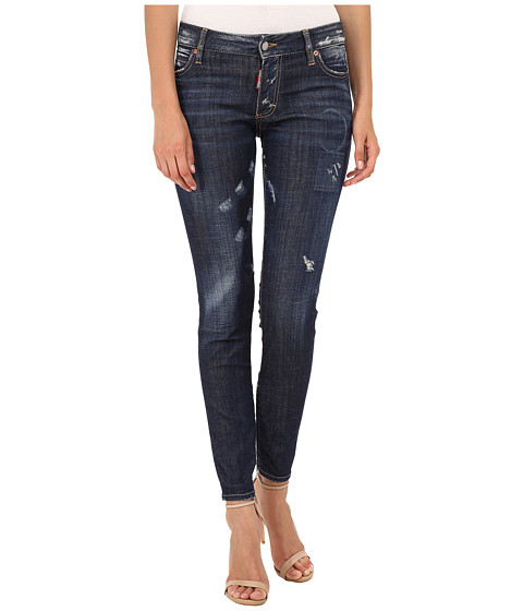 DSQUARED2 - Medium Waist Skinny Jeans (Blue) Women's Jeans