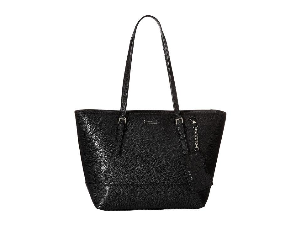 Nine West - Ava Medium Tote (Black) Tote Handbags