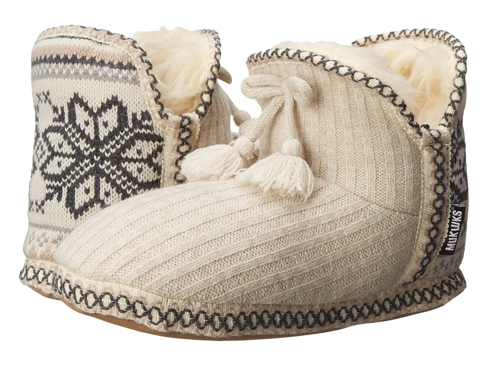 MUK LUKS - Amira Slipper (Winter White) Women's Slippers