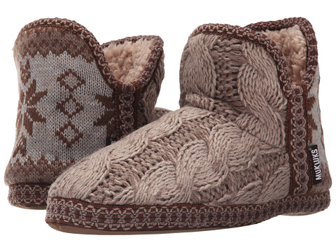 MUK LUKS - Amira Slipper (Taupe) Women's Slippers