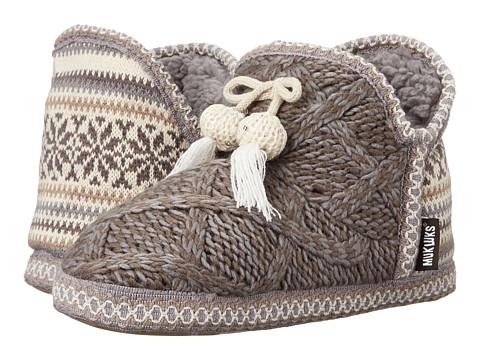 MUK LUKS - Amira Slipper (Grey) Women's Slippers