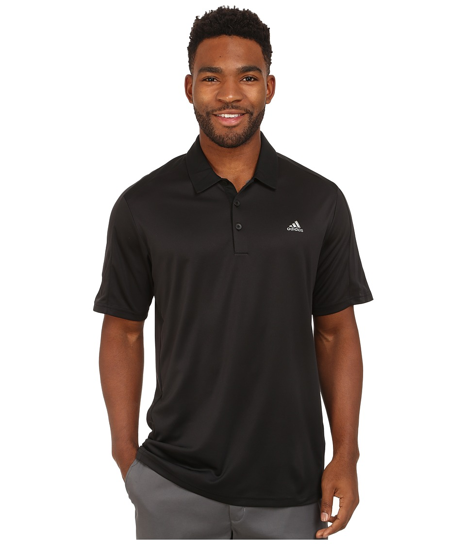 adidas Golf - CLIMACOOL Debossed 3-Stripes Polo (Black) Men