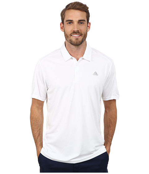 adidas Golf - CLIMACOOL Debossed 3-Stripes Polo (White) Men