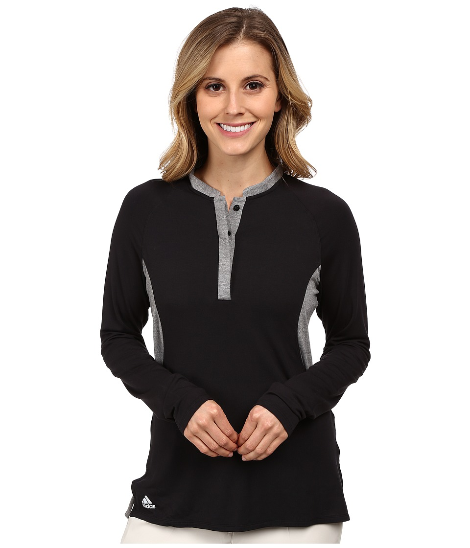 adidas Golf - Tour Modal Henley (Black) Women's Clothing