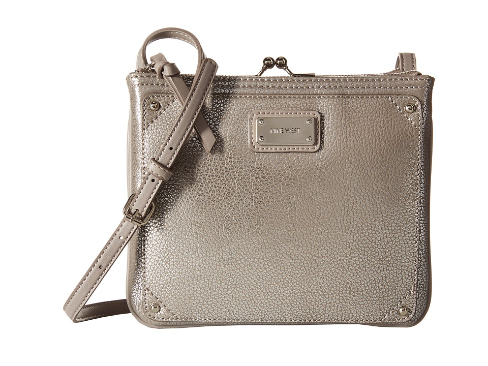 Nine West - Jaya Crossbody (Silver/Elm) Cross Body Handbags