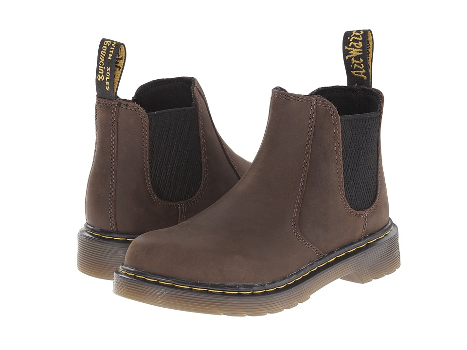 Dr. Martens Kid's Collection - Banzai (Little Kid/Big Kid) (Dark Brown Wyoming) Kids Shoes
