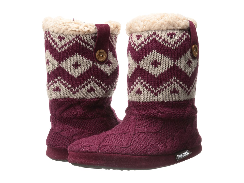 MUK LUKS - Arden (Dark Red) Women's Boots