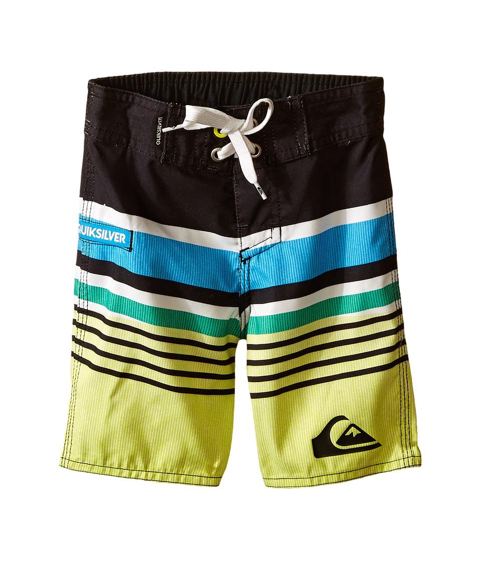 Quiksilver Kids - Everyday Stripe Trunk (Toddler) (Dark Shadow) Boy's Swimwear