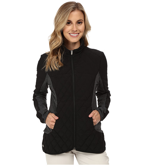 adidas Golf - Climawarm Padded Jacket (Black/Black Heather) Women's Coat