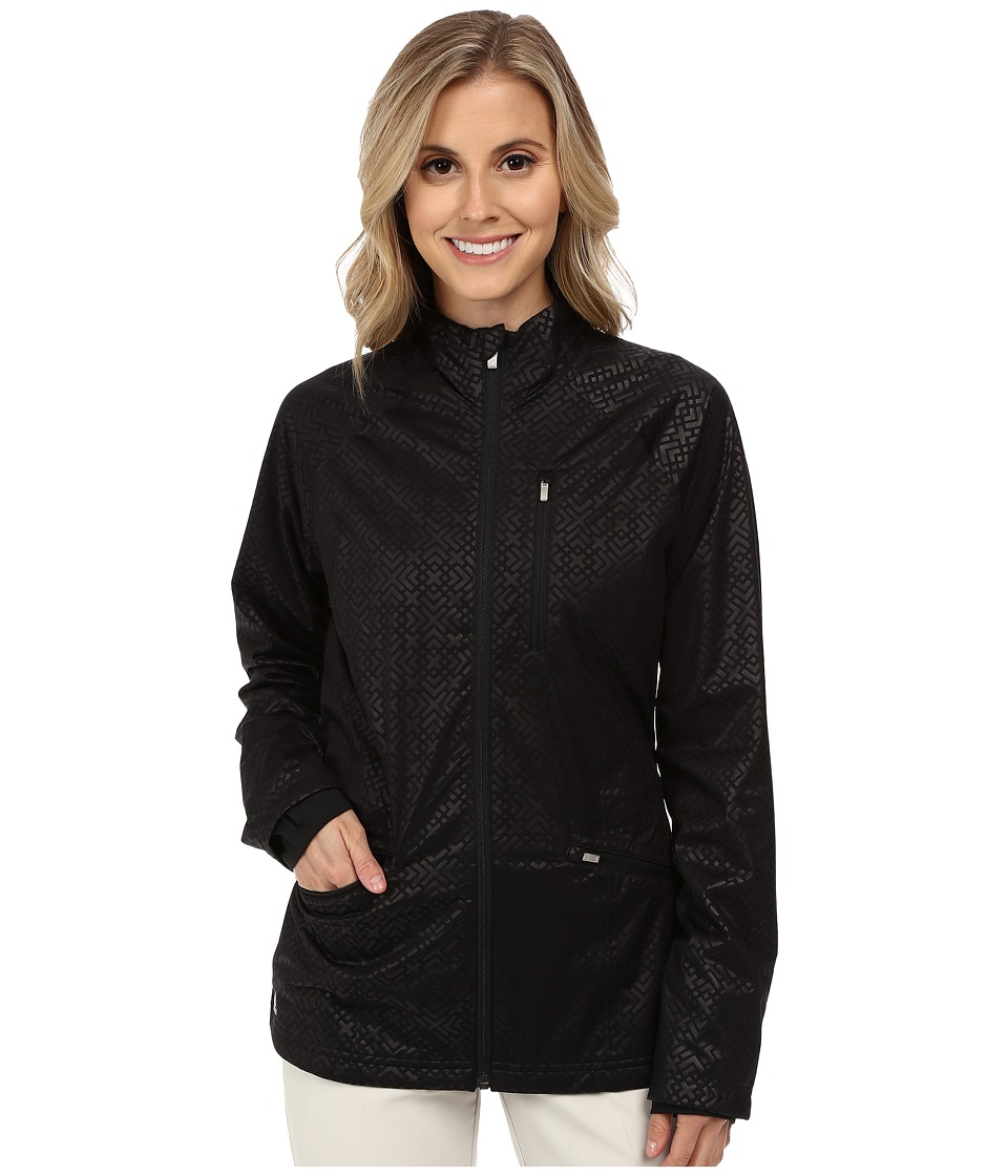 adidas Golf - Climaproof Fashion Rain Jacket (Black/Black) Women's Coat