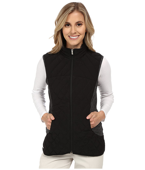 adidas Golf - Climawarm Padded Vest (Black/Black Heather) Women's Vest