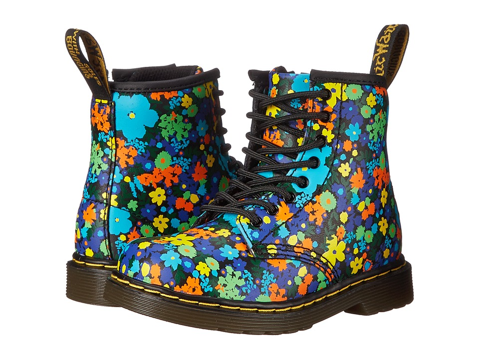 Dr. Martens Kid's Collection - Brooklee (Toddler) (Black Wanderflora Softy T) Girls Shoes
