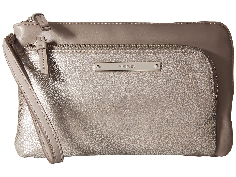 Nine West - Table Treasures Zip Pouch (Silver/Elm) Travel Pouch