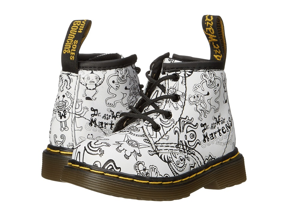 Dr. Martens Kid's Collection - Brooklee B (Toddler) (White Wiggy World Softy T) Kids Shoes