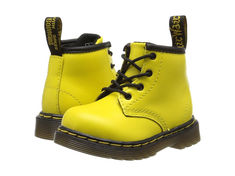 Dr. Martens Kid's Collection - Brooklee B (Toddler) (Wild Yellow Softy T) Kids Shoes