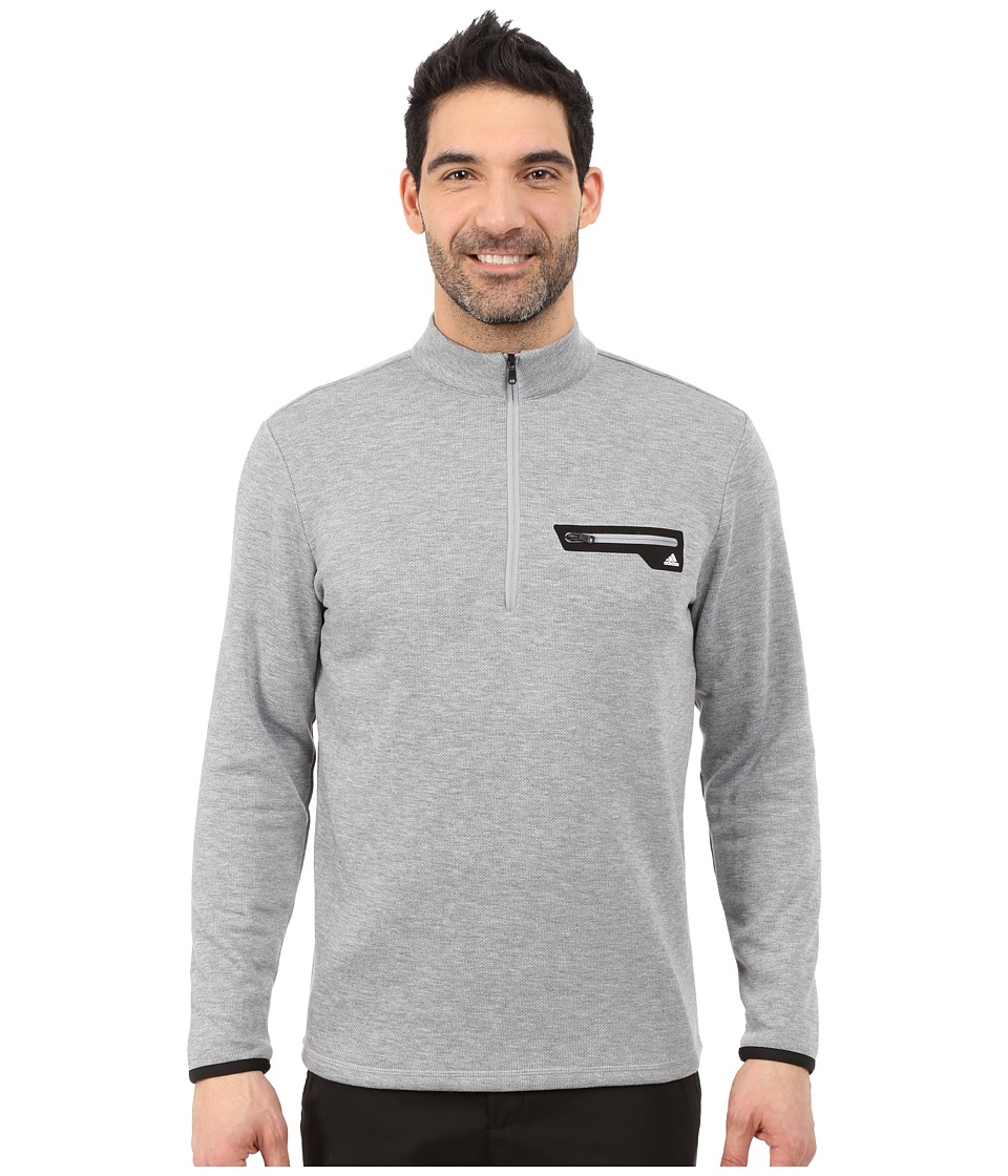 adidas Golf - Sport Performance 1/2 Zip Sweater (Mid Grey/White) Men's Sweater