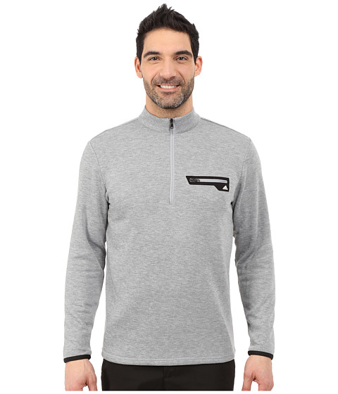 adidas Golf - Sport Performance 1/2 Zip Sweater (Mid Grey/White) Men