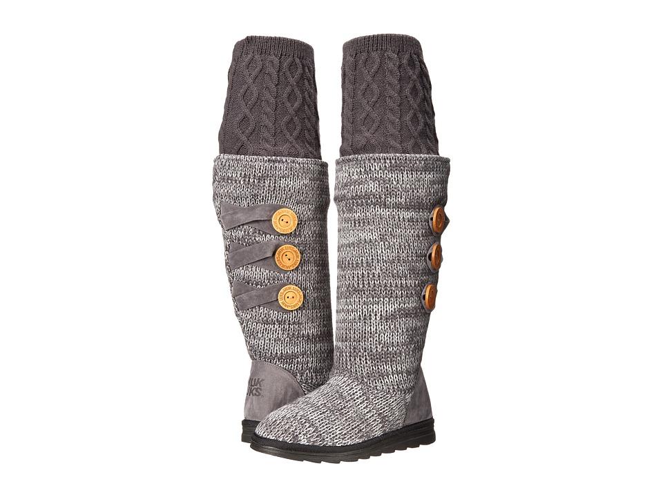MUK LUKS - Caris (Dark Grey) Women's Boots