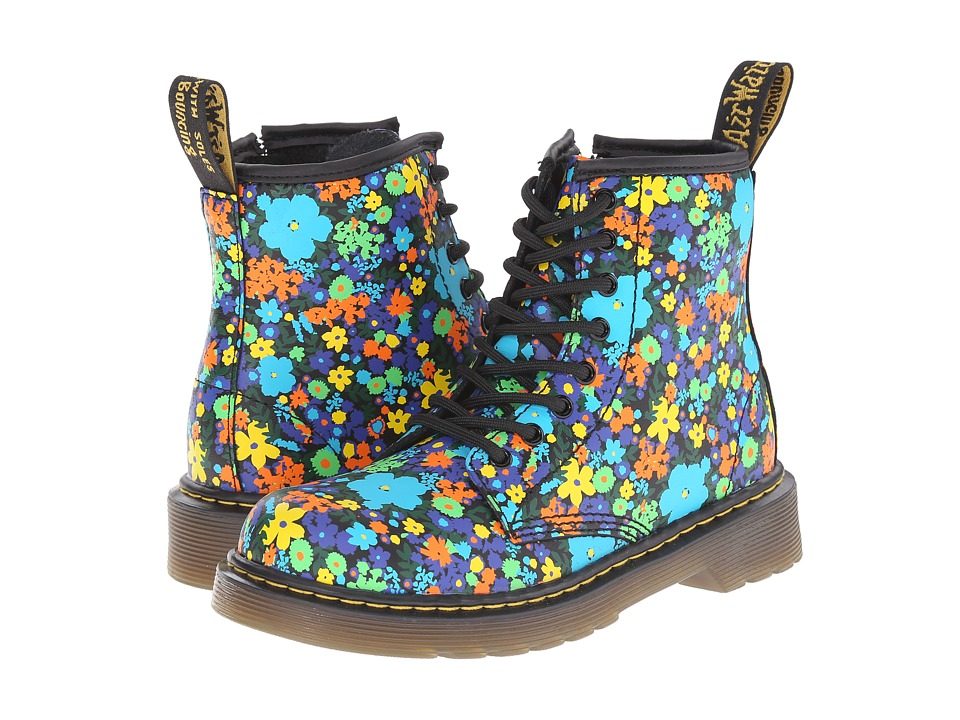 Dr. Martens Kid's Collection - Delaney (Little Kid/Big Kid) (Black Wanderflora Softy T) Girls Shoes
