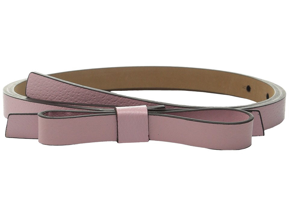 Kate Spade New York - Boarskin Panel Bow Belt (Rose Jade) Women's Belts