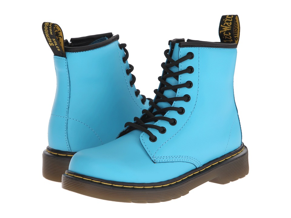 Dr. Martens Kid's Collection - Delaney (Little Kid/Big Kid) (Wild Aqua Softy T) Kids Shoes