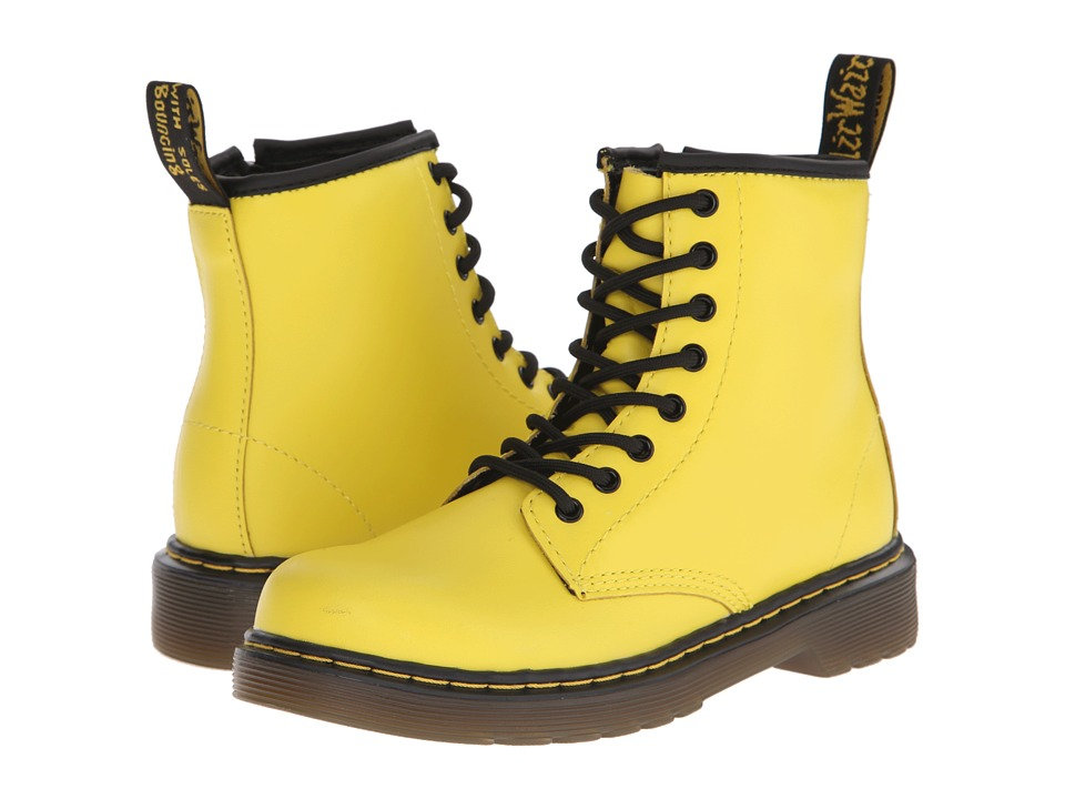 Dr. Martens Kid's Collection - Delaney (Little Kid/Big Kid) (Wild Yellow Softy T) Kids Shoes
