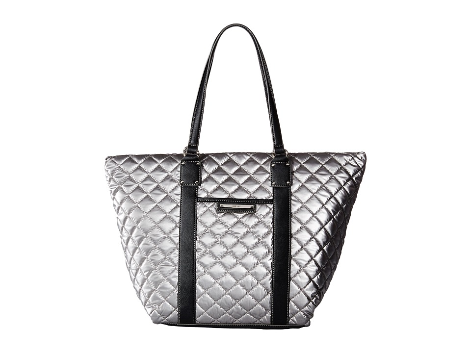 Nine West - The Spaces Between Tote (Silver/Black) Tote Handbags