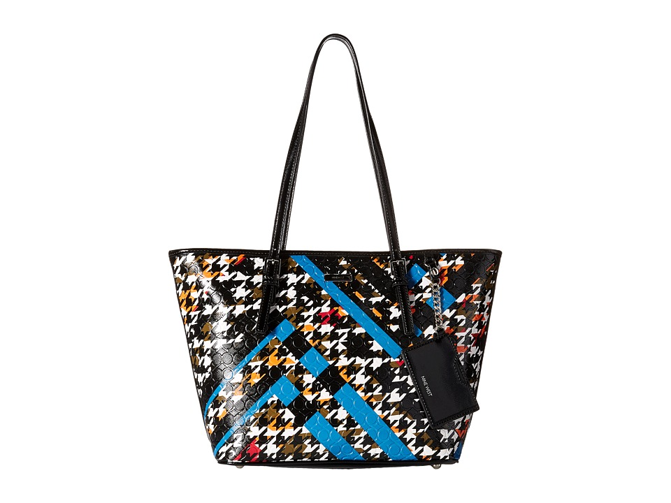 Nine West - Ava Tote (Jewel Teal Multi/Black) Tote Handbags