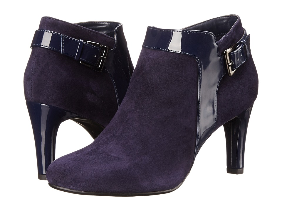 Bandolino - Loman (Navy Multi Suede) Women's Shoes