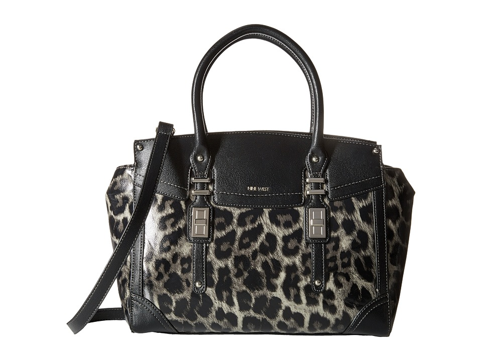 Nine West - Flip Lock Satchel (Elm Multi/Black) Satchel Handbags