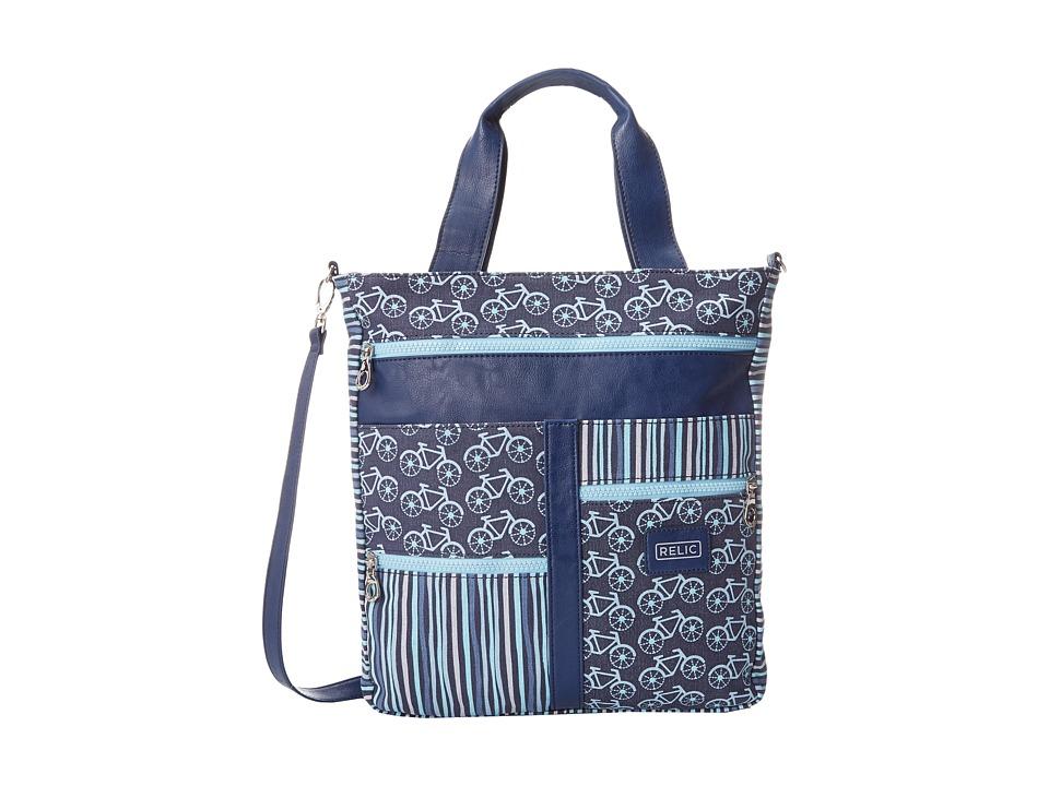 Relic - Takeaway Tote (Blue Multi) Tote Handbags