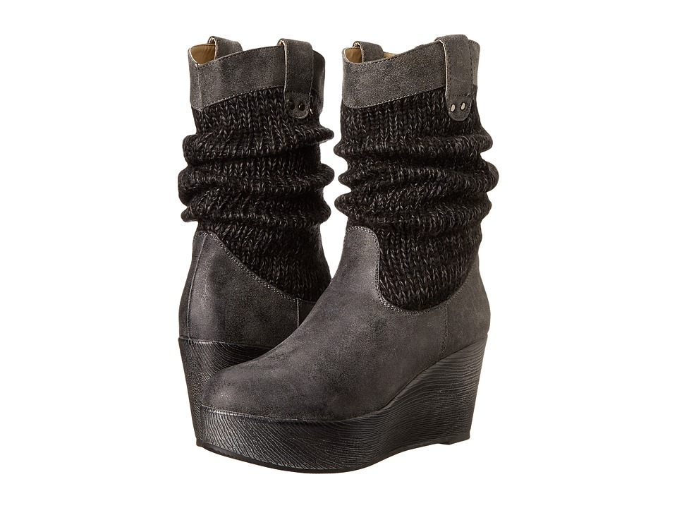 MUK LUKS - Quinn (Charcoal) Women's Boots