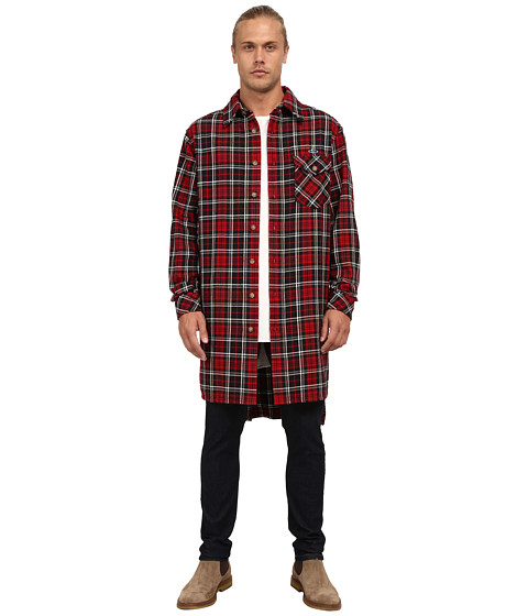 Vivienne Westwood MAN - Anglomania Padded Giant Shirt (Red) Men's Long Sleeve Button Up