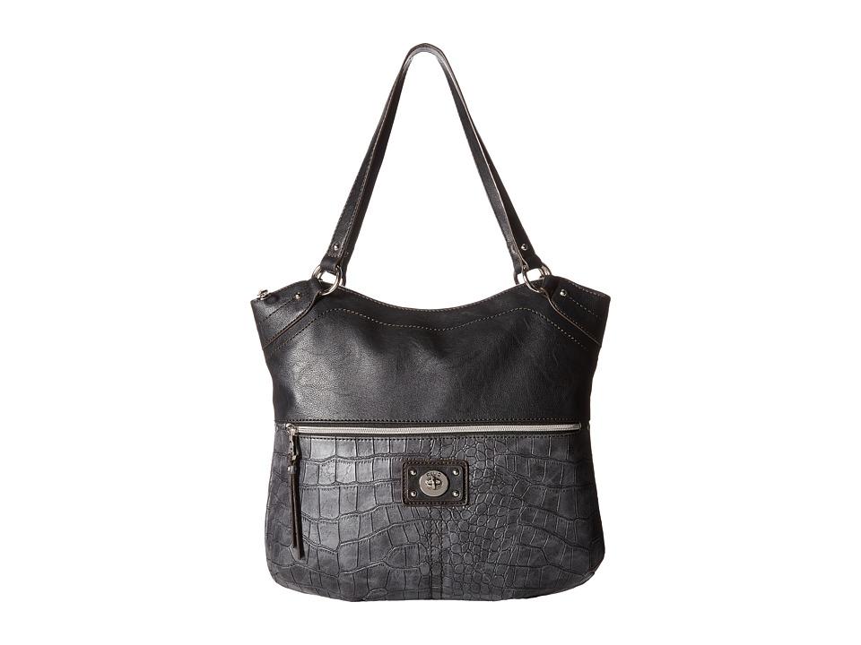 Relic - Prescott Shopper (Black Croco) Handbags