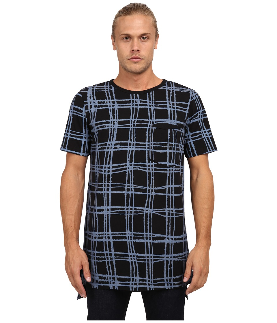 Vivienne Westwood MAN - Anglomania Tartan Tail T-Shirt (Blue) Men's T Shirt
