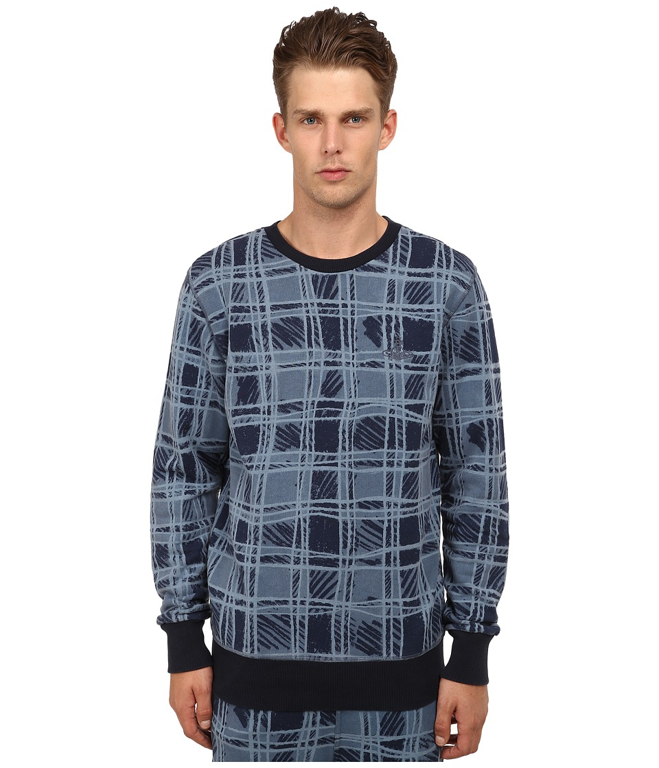 Vivienne Westwood MAN - Anglomania Classic Tartan Pullover (Blue) Men's Sweatshirt