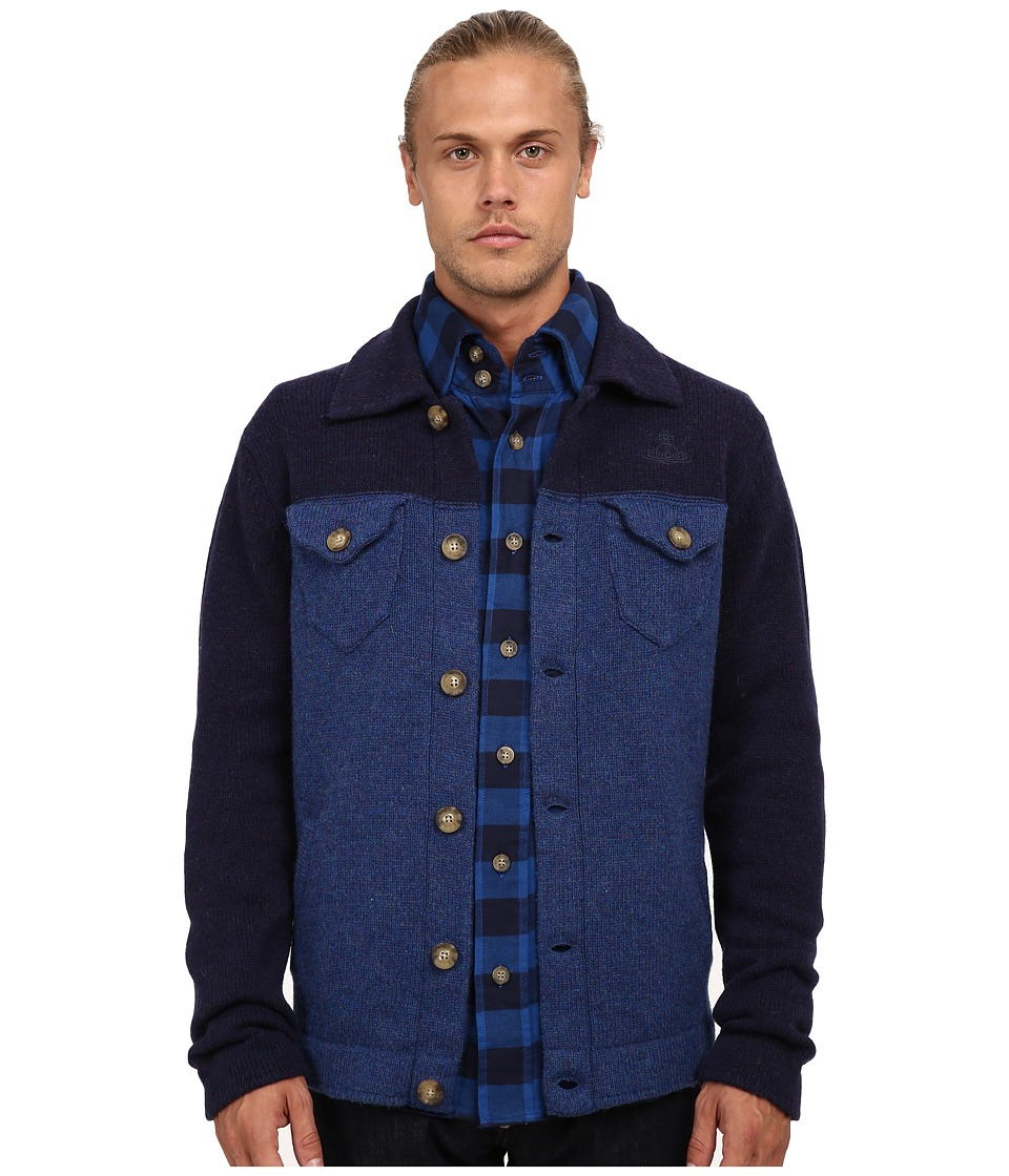 Vivienne Westwood MAN - Anglomania Classic Jacket (Blue) Men's Coat