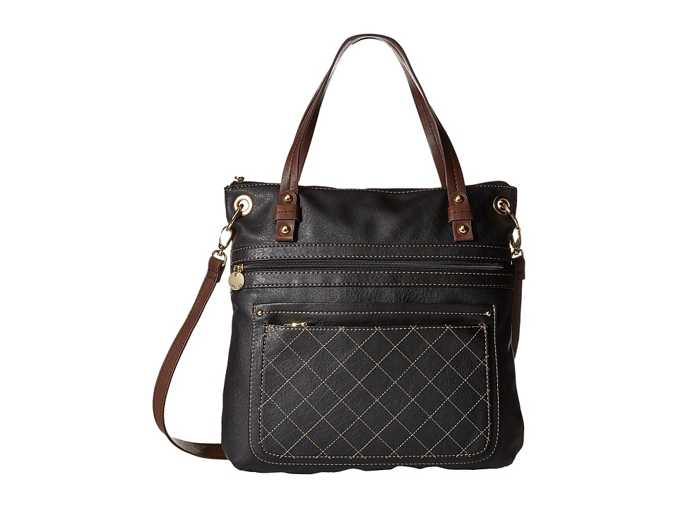 Relic - Berkley Convertible Top Zip (Jet Black) Top-Zip Handbags