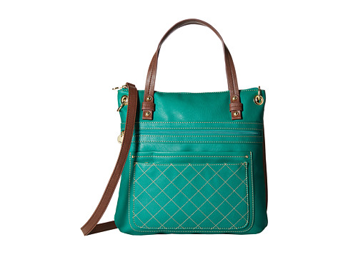 Relic - Berkley Convertible Top Zip (Emerald Green) Top-Zip Handbags