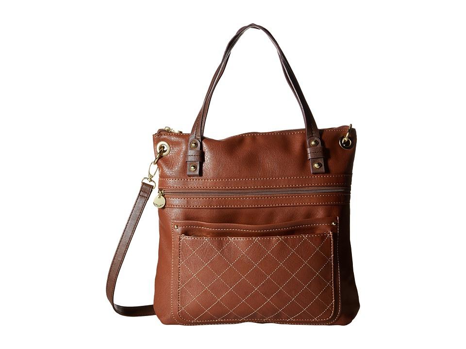 Relic - Berkley Convertible Top Zip (Cognac) Top-Zip Handbags