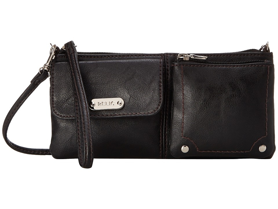 Relic - Evie East West Wristlet (Black) Wristlet Handbags