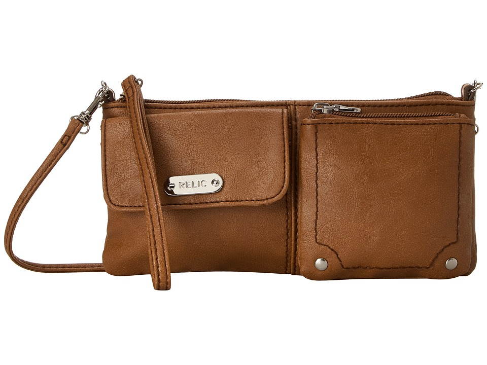 Relic - Evie East West Wristlet (Cognac) Wristlet Handbags