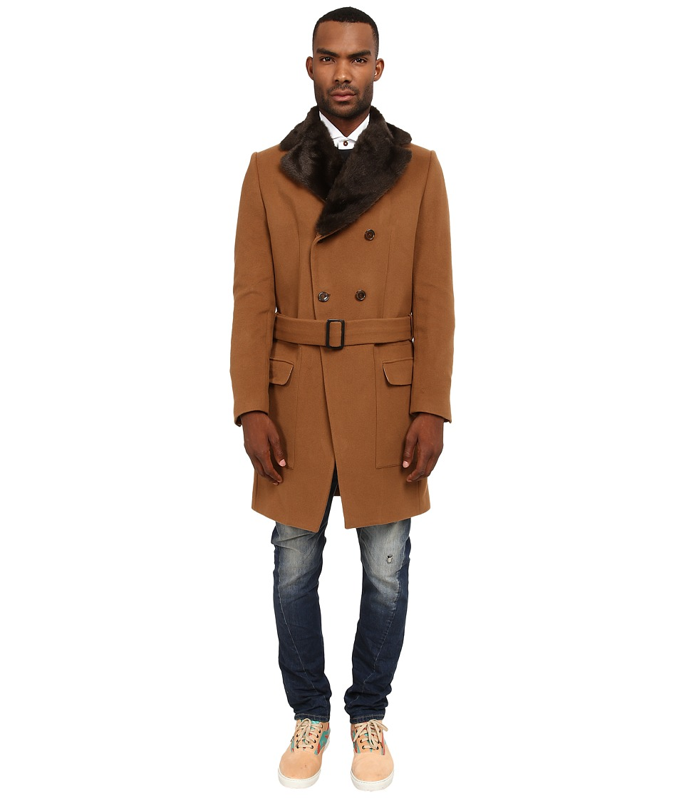 Vivienne Westwood MAN - Classic Melton Driving Coat (Camel) Men's Coat