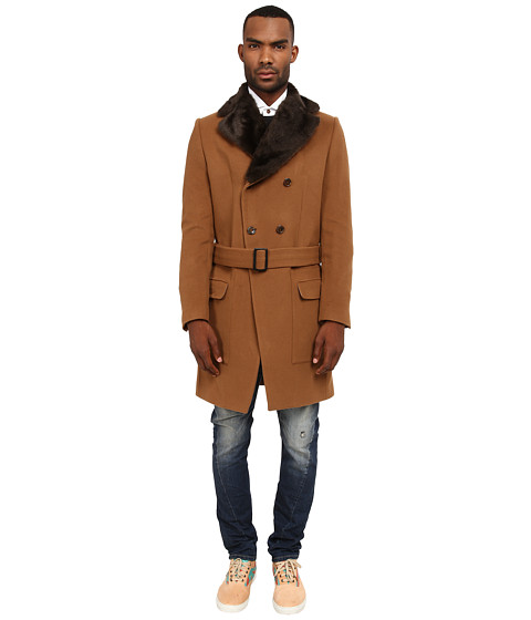 Vivienne Westwood MAN - Classic Melton Driving Coat (Camel) Men
